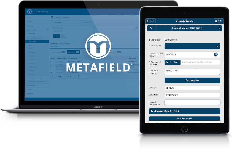 MetaField: Construction materials testing software